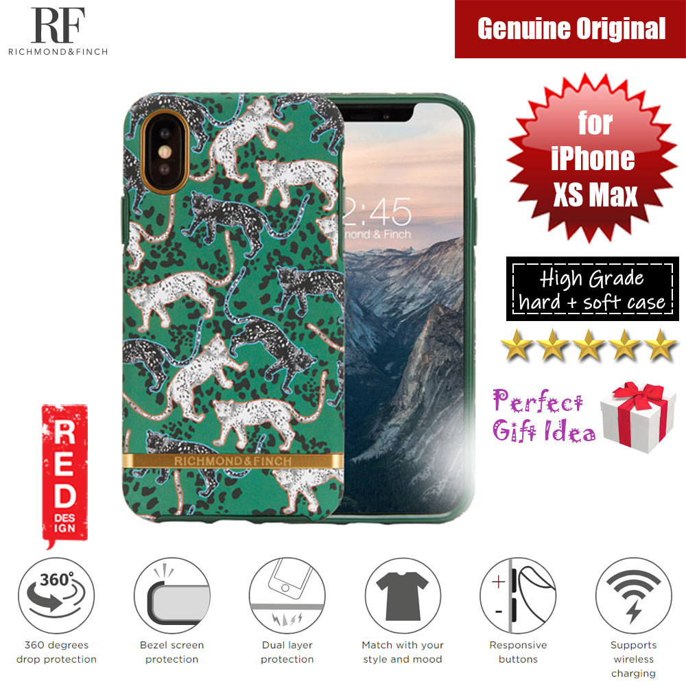Picture of Richmond and Finch unique design protection case for Apple iPhone XS Max (Green Leopard) Apple iPhone XS Max- Apple iPhone XS Max Cases, Apple iPhone XS Max Covers, iPad Cases and a wide selection of Apple iPhone XS Max Accessories in Malaysia, Sabah, Sarawak and Singapore