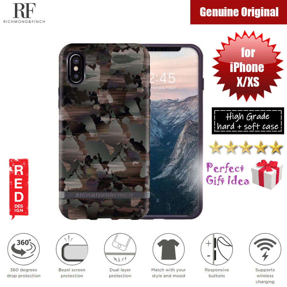 Picture of Richmond and Finch unique design protection case for Apple iPhone X iPhone XS (Camouflage Matte Surface) Apple iPhone X- Apple iPhone X Cases, Apple iPhone X Covers, iPad Cases and a wide selection of Apple iPhone X Accessories in Malaysia, Sabah, Sarawak and Singapore