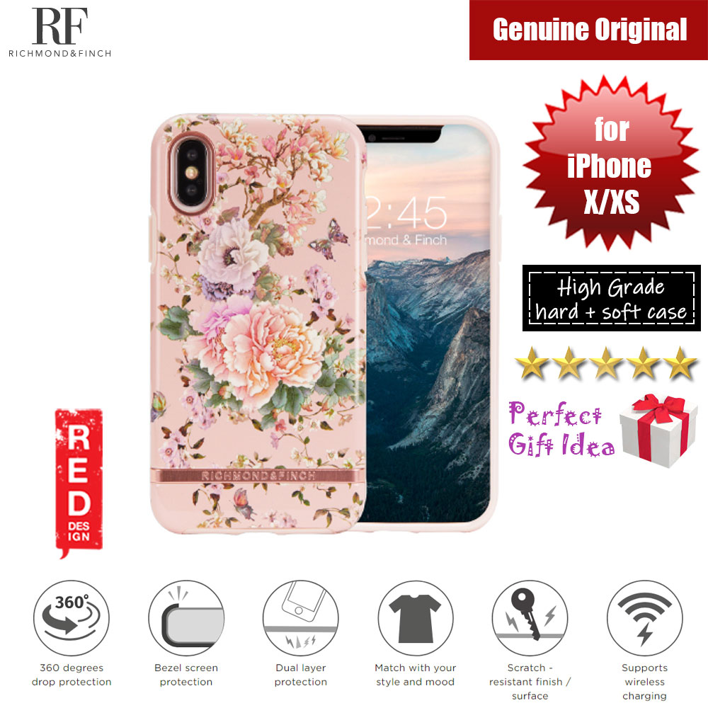 Picture of Richmond and Finch unique design for female protection case for Apple iPhone X iPhone XS (Peonies and Butterflies Glossy Surface) Apple iPhone X- Apple iPhone X Cases, Apple iPhone X Covers, iPad Cases and a wide selection of Apple iPhone X Accessories in Malaysia, Sabah, Sarawak and Singapore