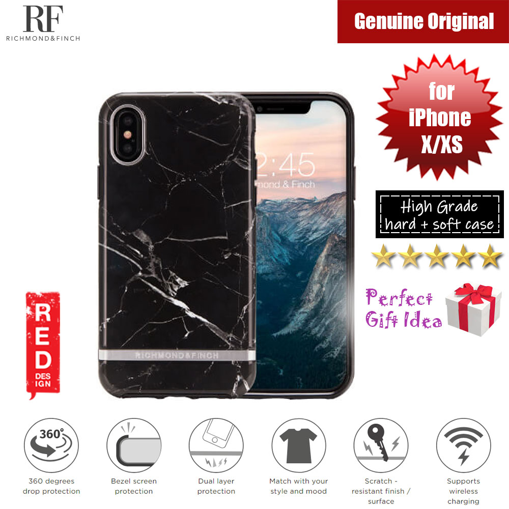 Picture of Richmond and Finch unique design protection case for Apple iPhone X iPhone XS (Black Marble Glossy Surface) Apple iPhone X- Apple iPhone X Cases, Apple iPhone X Covers, iPad Cases and a wide selection of Apple iPhone X Accessories in Malaysia, Sabah, Sarawak and Singapore
