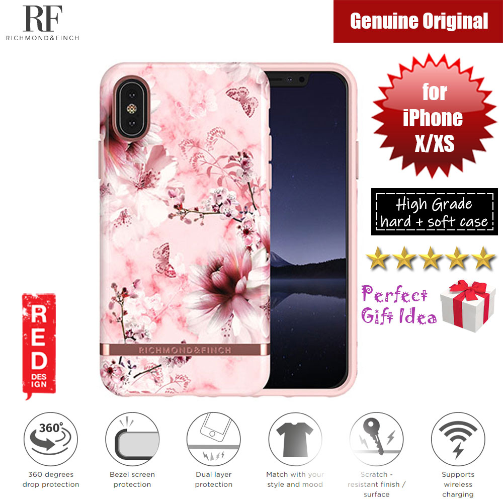 Picture of Richmond and Rich unique design for female protection case for Apple iPhone X iPhone XS (PINK MARBLE FLORAL) Apple iPhone X- Apple iPhone X Cases, Apple iPhone X Covers, iPad Cases and a wide selection of Apple iPhone X Accessories in Malaysia, Sabah, Sarawak and Singapore