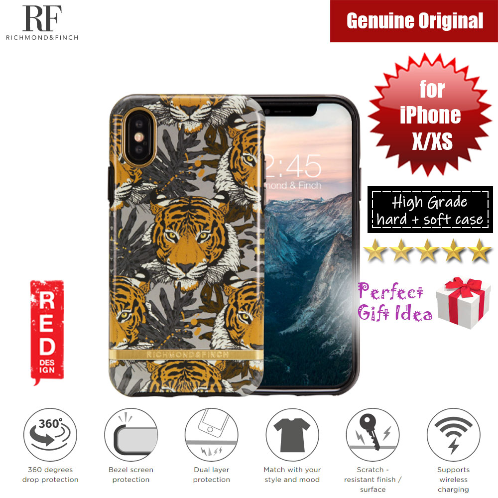 Picture of Richmond and Finch unique design protection case for Apple iPhone X iPhone XS (Tropical Tiger Glossy Surface) Apple iPhone X- Apple iPhone X Cases, Apple iPhone X Covers, iPad Cases and a wide selection of Apple iPhone X Accessories in Malaysia, Sabah, Sarawak and Singapore