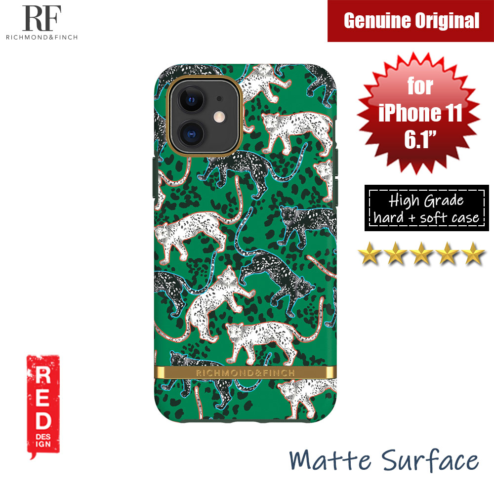 Picture of Richmond and Finch unique design protection case for Apple iPhone 11 6.1 (Green Leopard) Apple iPhone 11 6.1- Apple iPhone 11 6.1 Cases, Apple iPhone 11 6.1 Covers, iPad Cases and a wide selection of Apple iPhone 11 6.1 Accessories in Malaysia, Sabah, Sarawak and Singapore