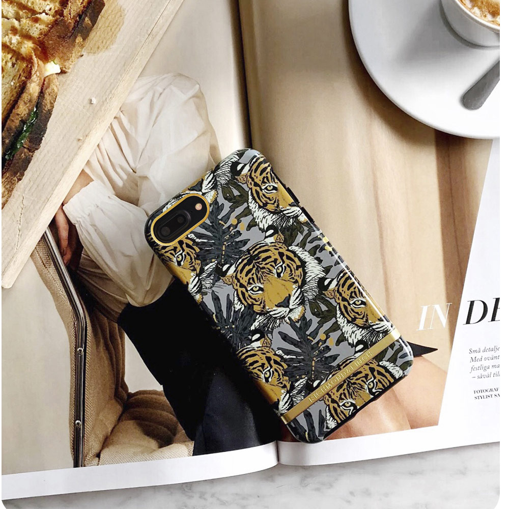 Picture of Apple iPhone 8 Plus Case | Richmond and Finch unique design for female protection case for Apple iPhone 6S Plus 7 Plus 8 Plus (Tropica Tiger)