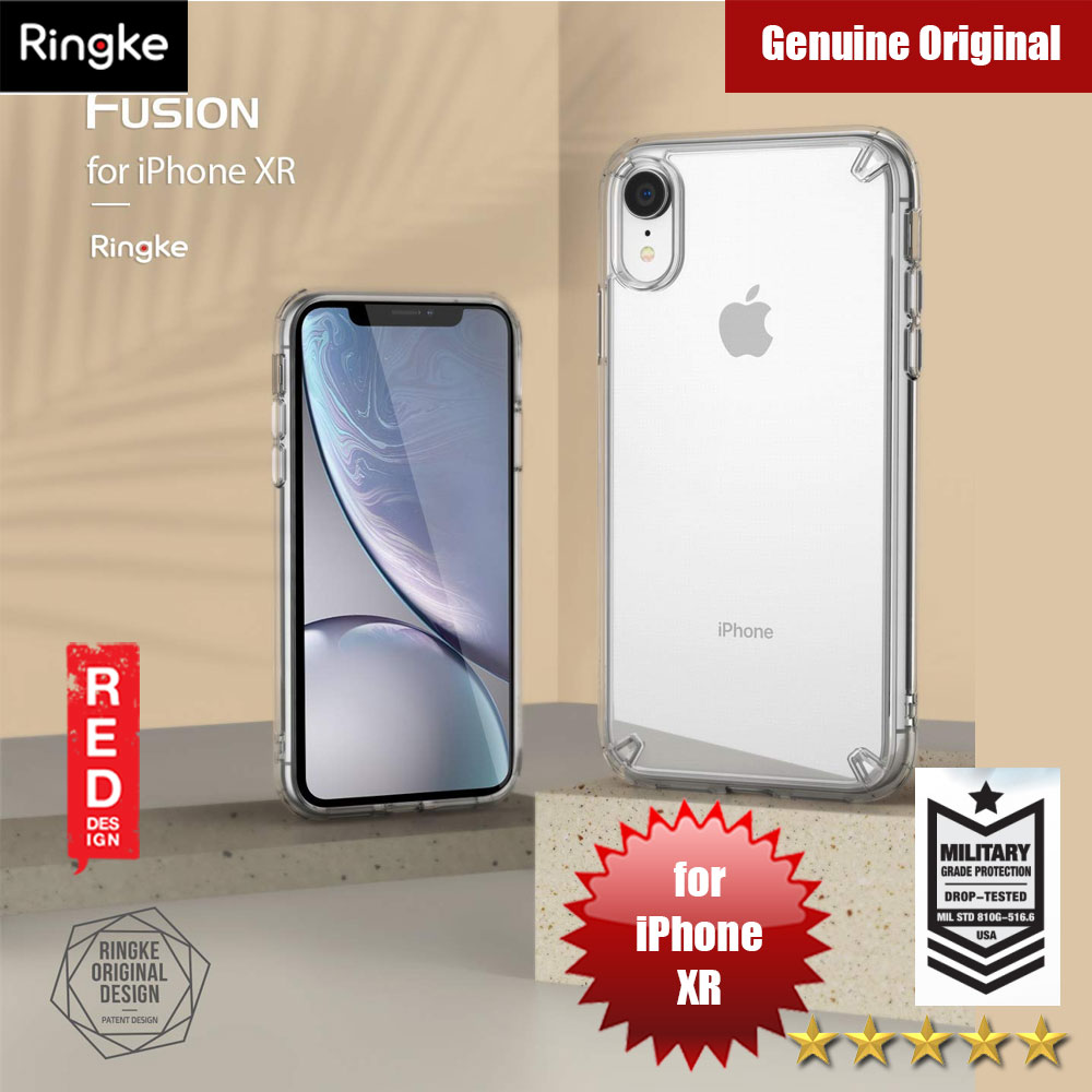 Picture of Ringke Fusion Extreme Tough Protection for Apple iPhone XR (Clear) Apple iPhone XR- Apple iPhone XR Cases, Apple iPhone XR Covers, iPad Cases and a wide selection of Apple iPhone XR Accessories in Malaysia, Sabah, Sarawak and Singapore