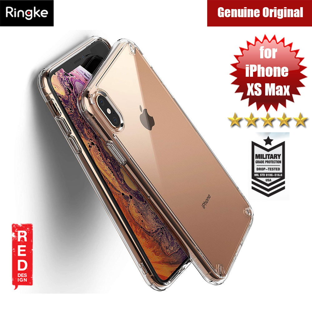 lowest price 3c477 8d0b1 Ringke Fusion Extreme Tough Protection for Apple iPhone XS Max (Clear)