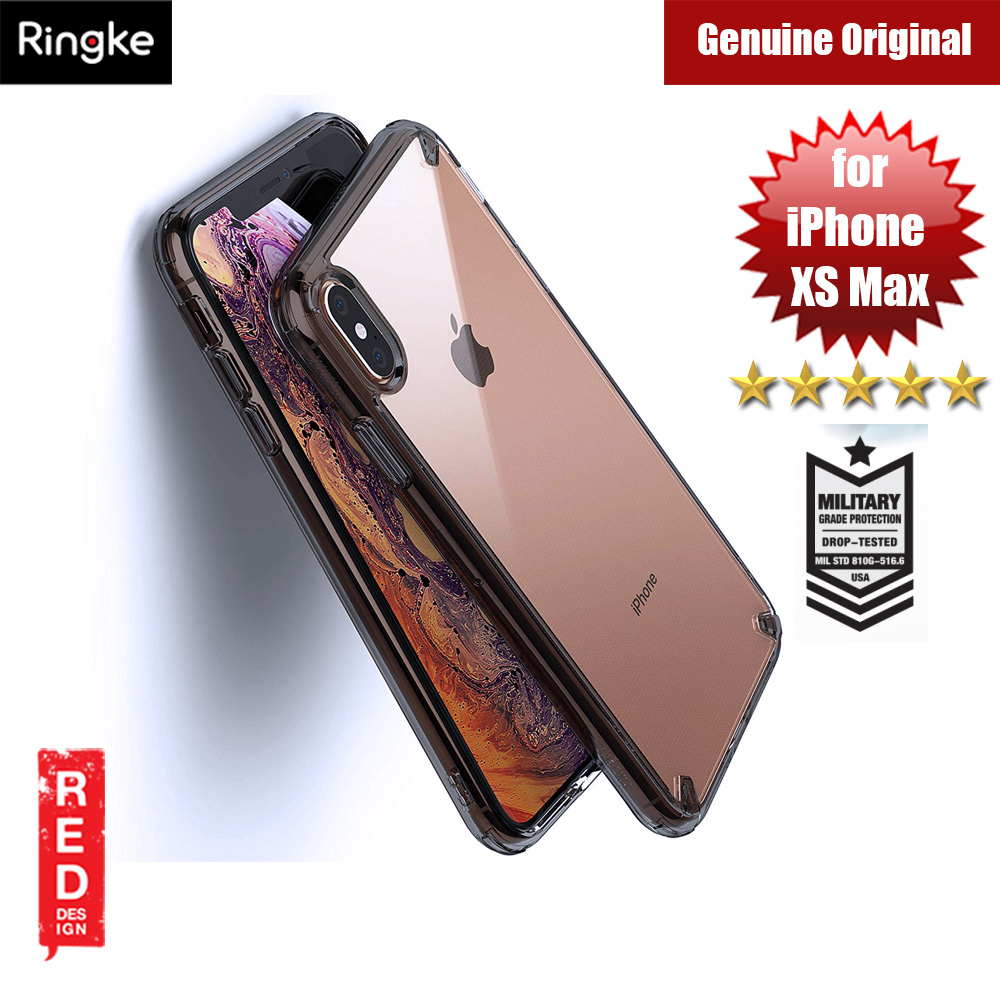 Picture of Ringke Fusion Extreme Tough Protection for Apple iPhone XS Max (Smoke Black) Apple iPhone XS Max- Apple iPhone XS Max Cases, Apple iPhone XS Max Covers, iPad Cases and a wide selection of Apple iPhone XS Max Accessories in Malaysia, Sabah, Sarawak and Singapore