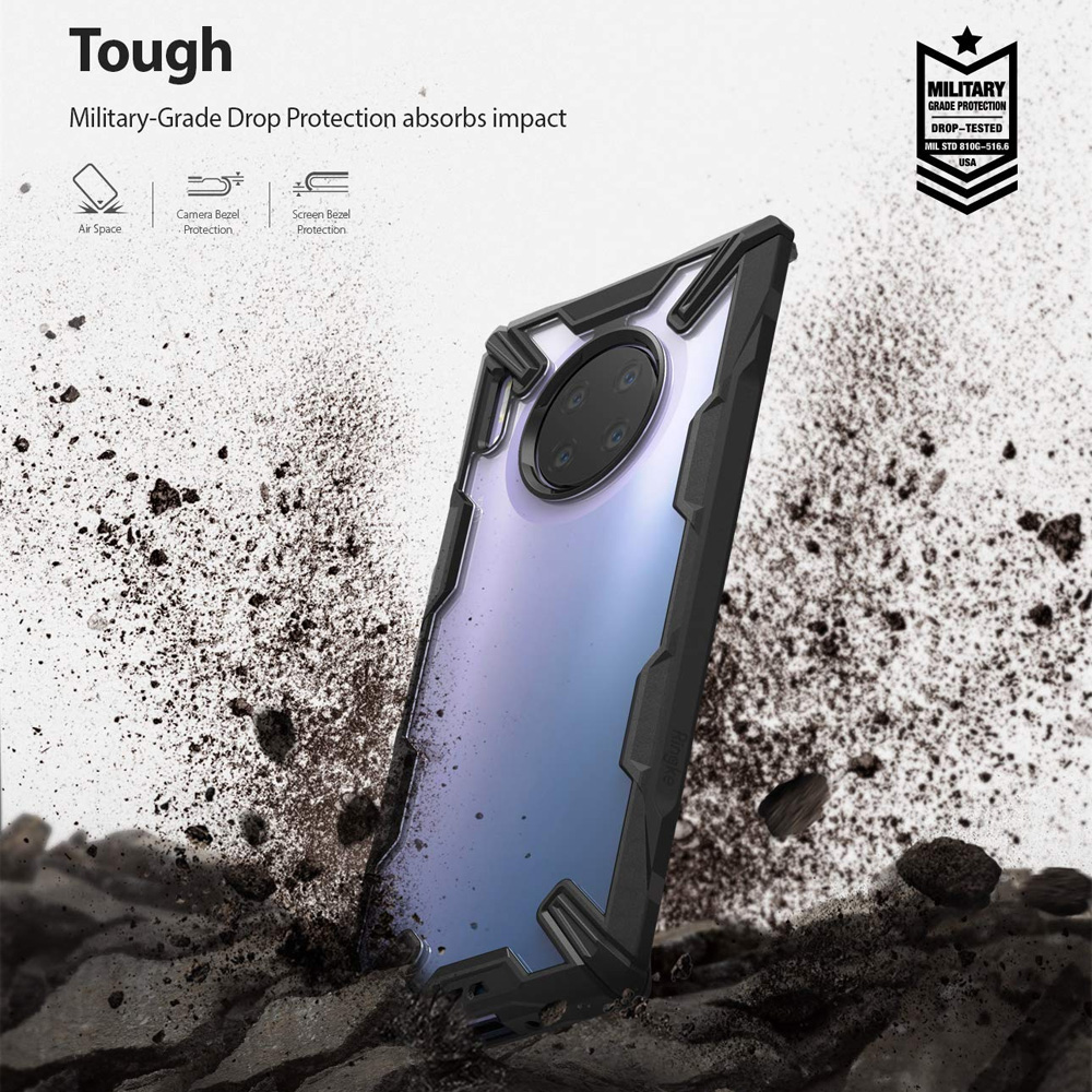 Picture of Huawei Mate 30 Pro  | Ringke Fusion X Extreme Tough Protection for Huawei Mate 30 Pro (Black)
