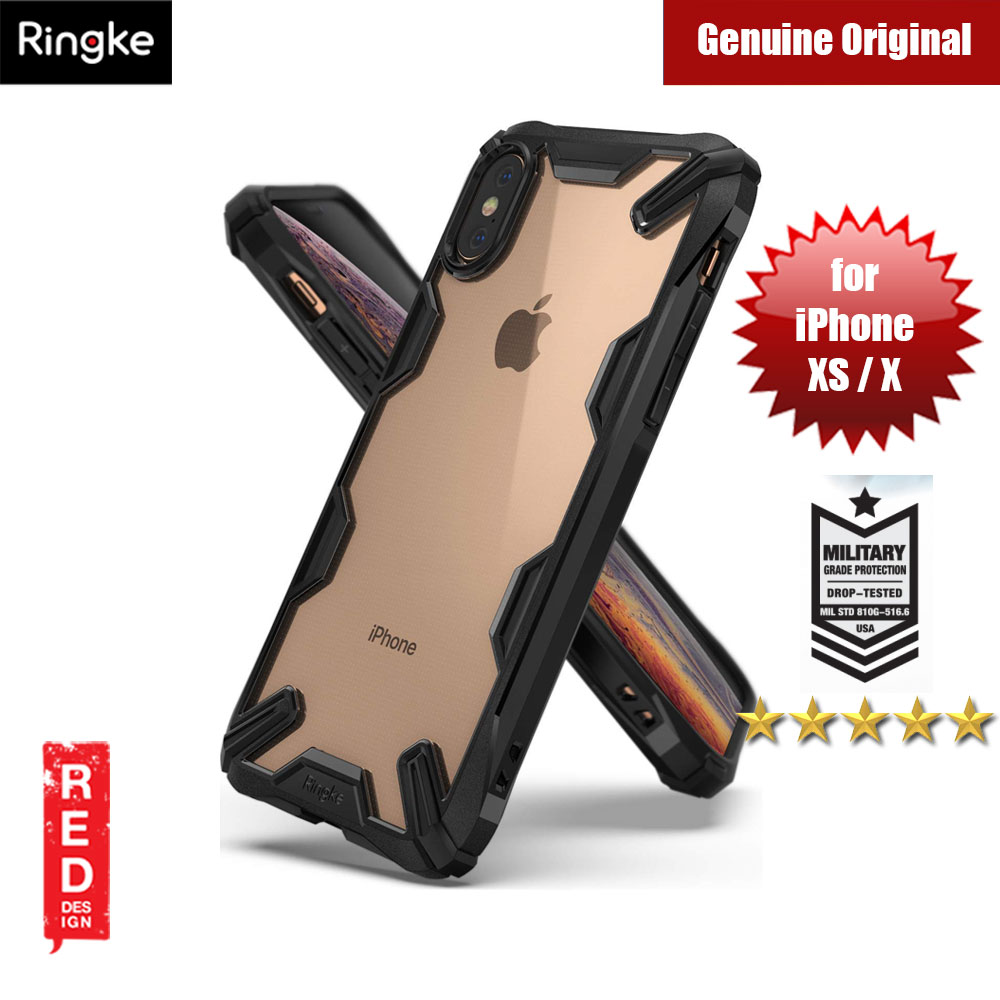 Picture of Ringke Fusion X Extreme Tough Protection for Apple iPhone XS iPhone X (Black) Apple iPhone X- Apple iPhone X Cases, Apple iPhone X Covers, iPad Cases and a wide selection of Apple iPhone X Accessories in Malaysia, Sabah, Sarawak and Singapore