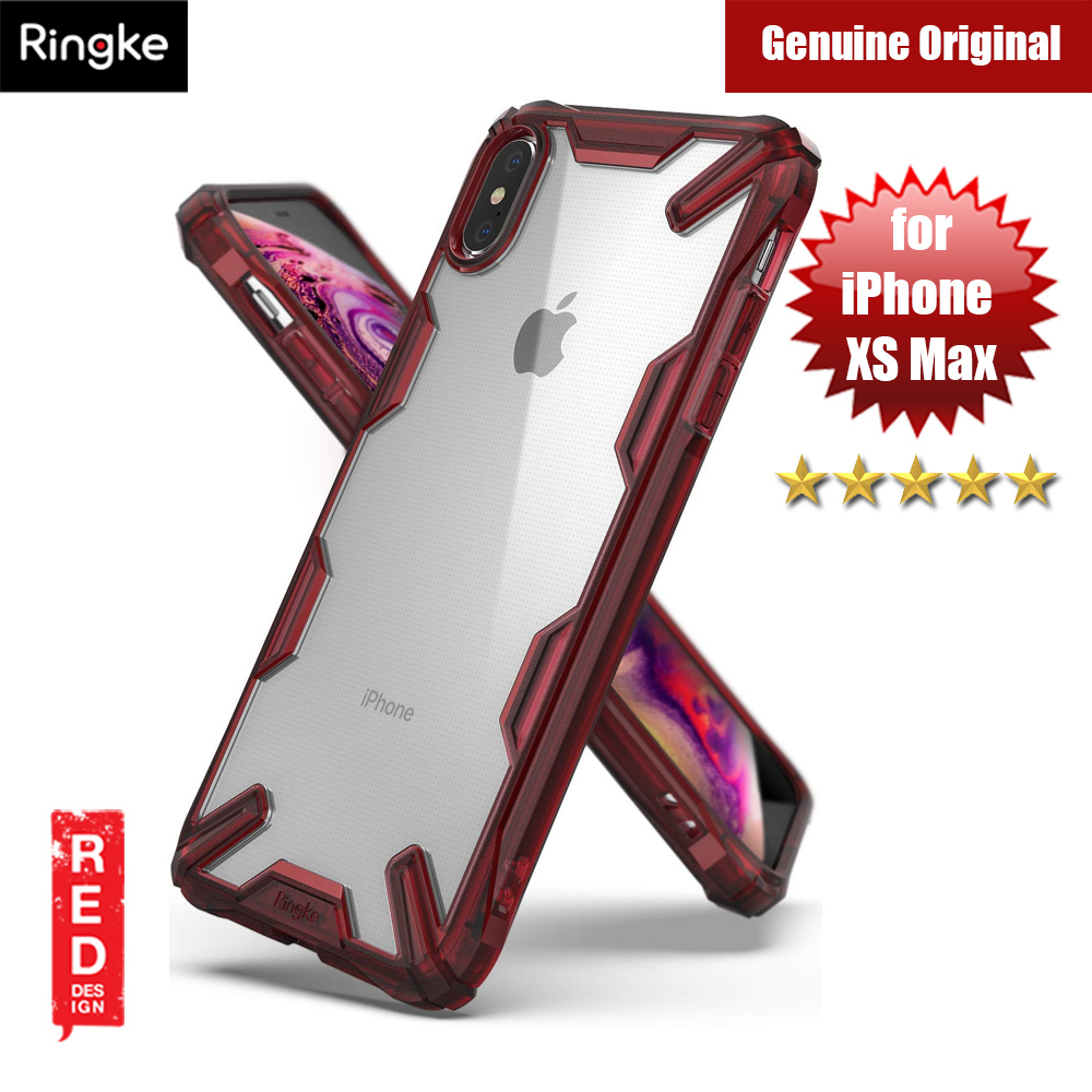 Picture of Ringke Fusion X Extreme Tough Protection for Apple iPhone XS Max (Red) Apple iPhone XS Max- Apple iPhone XS Max Cases, Apple iPhone XS Max Covers, iPad Cases and a wide selection of Apple iPhone XS Max Accessories in Malaysia, Sabah, Sarawak and Singapore