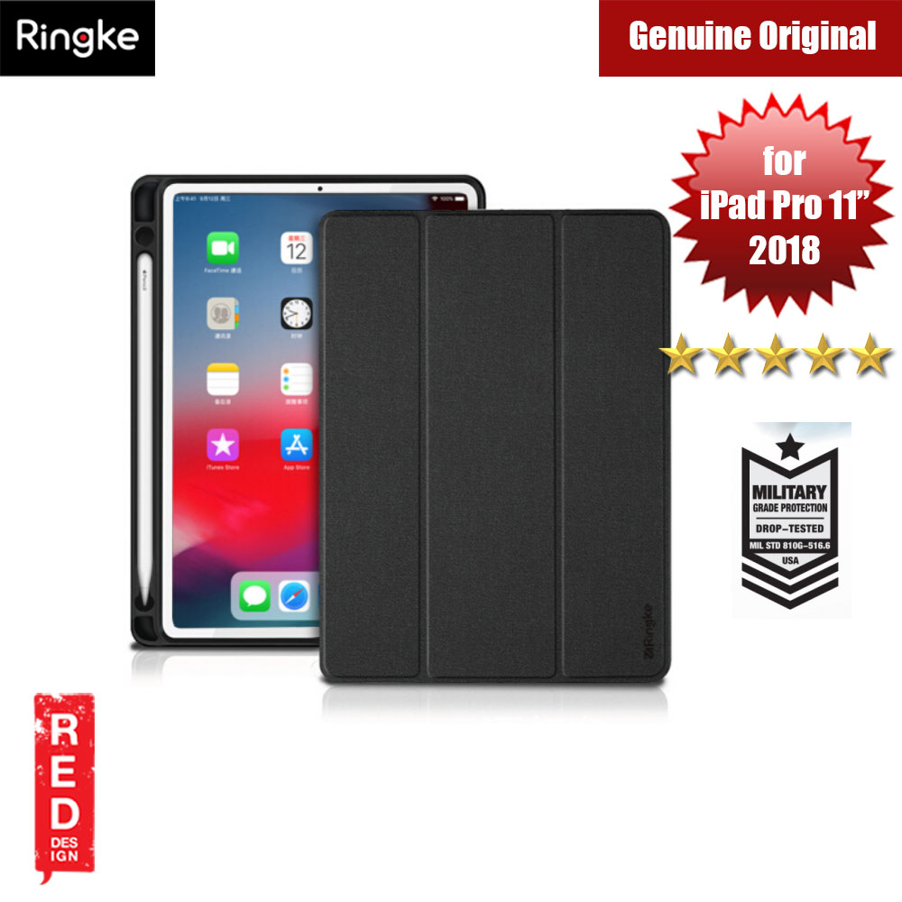 "Picture of Ringke Shock Impact Standable Smart Case for Apple iPad Pro 11"" (Black) Apple iPad Pro 11.0 2018- Apple iPad Pro 11.0 2018 Cases, Apple iPad Pro 11.0 2018 Covers, iPad Cases and a wide selection of Apple iPad Pro 11.0 2018 Accessories in Malaysia, Sabah, Sarawak and Singapore"