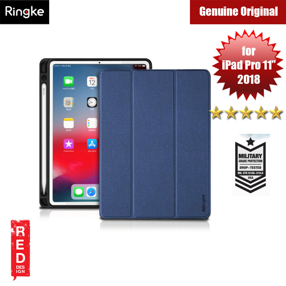 "Picture of Ringke Shock Impact Standable Smart Case for Apple iPad Pro 11"" (Blue) Apple iPad Pro 11.0 2018- Apple iPad Pro 11.0 2018 Cases, Apple iPad Pro 11.0 2018 Covers, iPad Cases and a wide selection of Apple iPad Pro 11.0 2018 Accessories in Malaysia, Sabah, Sarawak and Singapore"