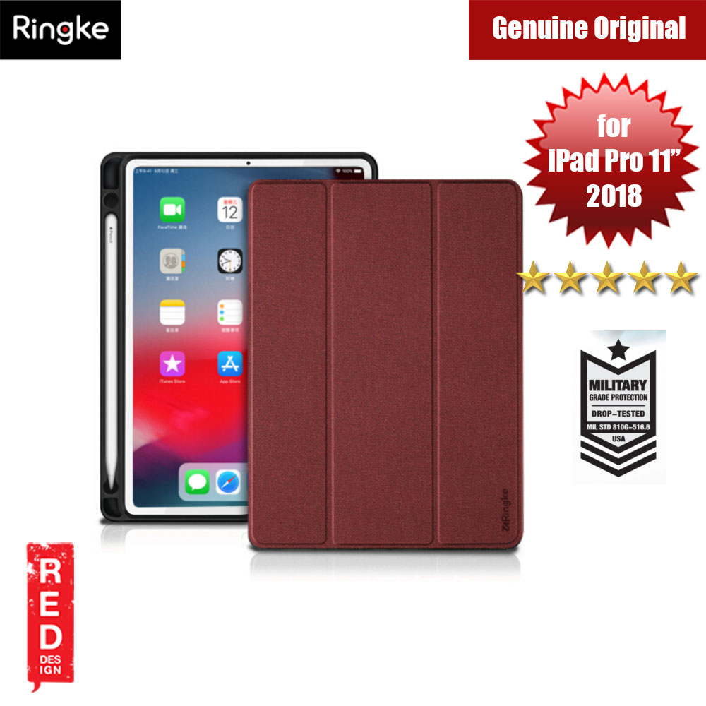 "Picture of Ringke Shock Impact Standable Smart Case for Apple iPad Pro 11"" (Red) Apple iPad Pro 11.0 2018- Apple iPad Pro 11.0 2018 Cases, Apple iPad Pro 11.0 2018 Covers, iPad Cases and a wide selection of Apple iPad Pro 11.0 2018 Accessories in Malaysia, Sabah, Sarawak and Singapore"