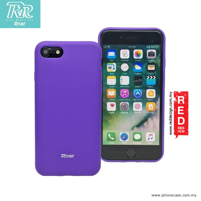 Picture of Roar All Day Colorful Jelly Smooth Touch Non Slip Case for Apple iPhone 7 iPhone 8 4.7 - Purple Apple iPhone 8- Apple iPhone 8 Cases, Apple iPhone 8 Covers, iPad Cases and a wide selection of Apple iPhone 8 Accessories in Malaysia, Sabah, Sarawak and Singapore