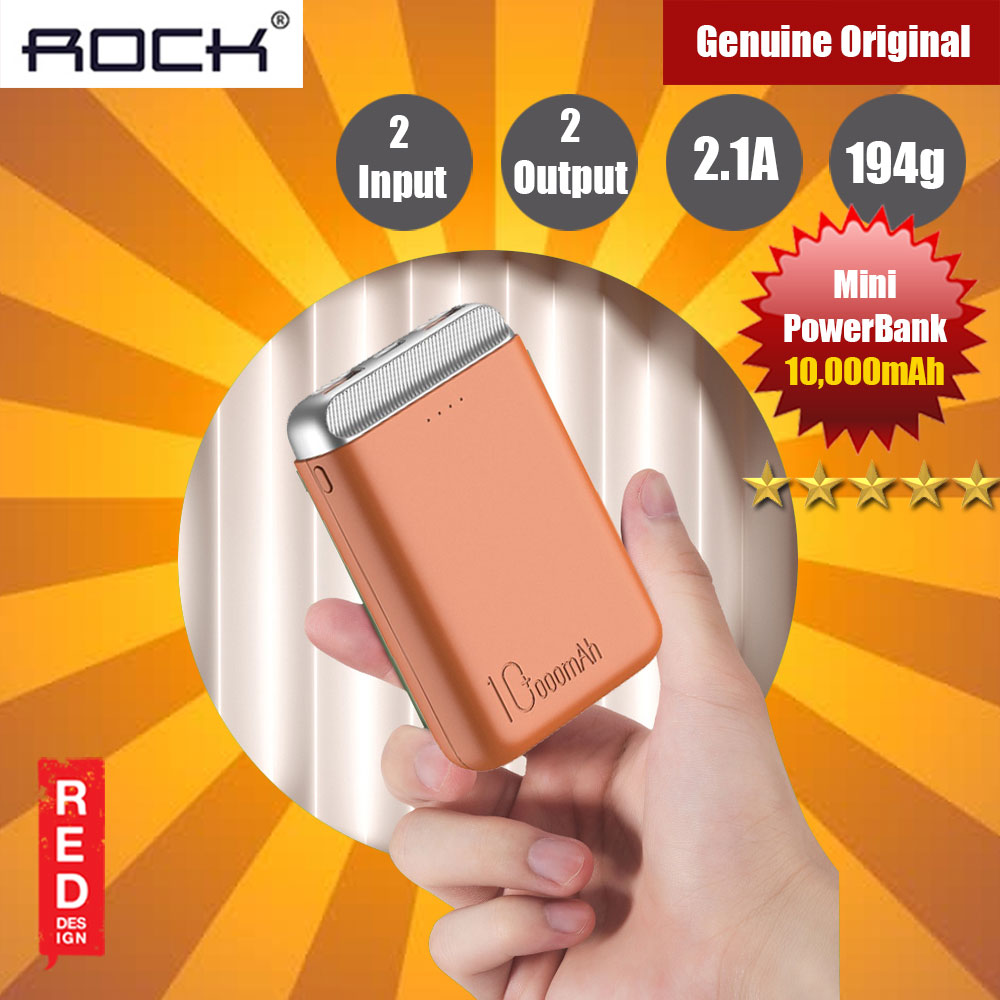 Picture of Rock P71 2 USB Mini Power Bank 10000mah for iPhone Huawei Samsung (Orange) Red Design- Red Design Cases, Red Design Covers, iPad Cases and a wide selection of Red Design Accessories in Malaysia, Sabah, Sarawak and Singapore