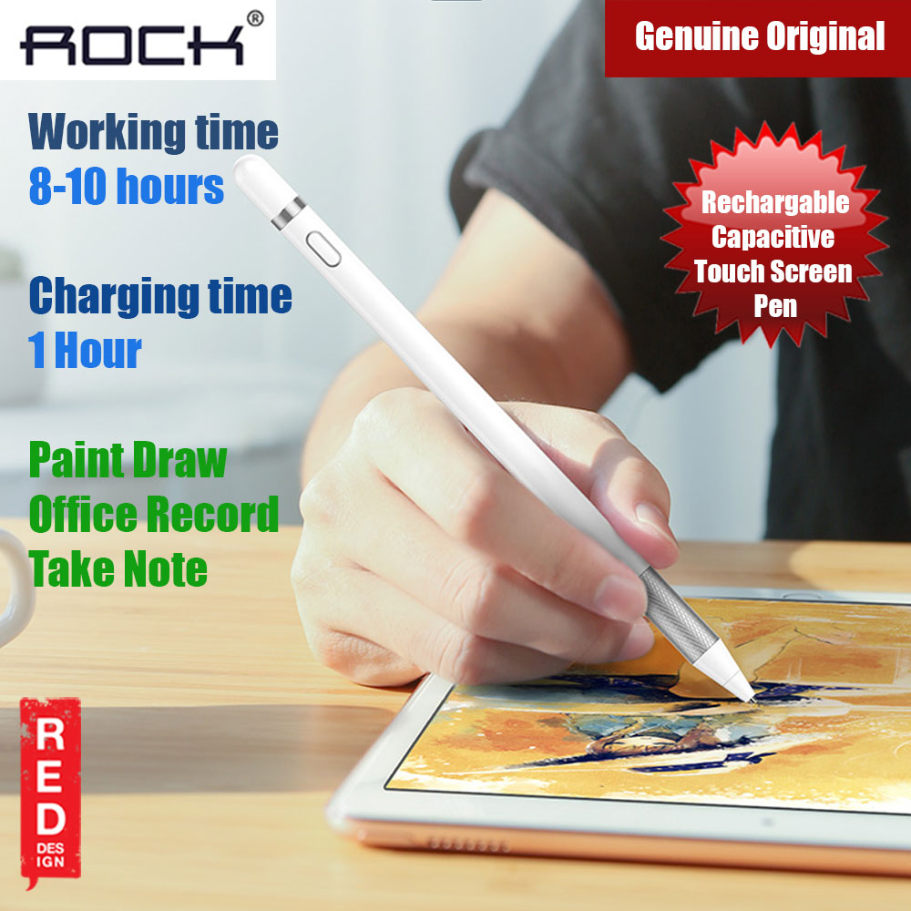 Picture of Rock Active Capacitive Pen Sensitive and Precise Stylus for iPad, iPhone Samsung Android and Most Touchscreens (White) Apple iPad 2- Apple iPad 2 Cases, Apple iPad 2 Covers, iPad Cases and a wide selection of Apple iPad 2 Accessories in Malaysia, Sabah, Sarawak and Singapore
