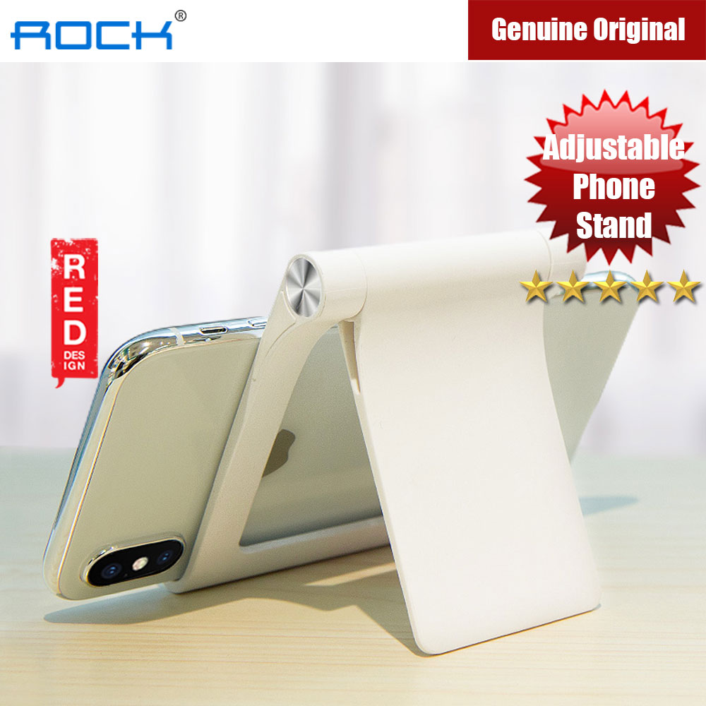 Picture of Rock Adjustable Desktop Phone Tablet Stand (White) Red Design- Red Design Cases, Red Design Covers, iPad Cases and a wide selection of Red Design Accessories in Malaysia, Sabah, Sarawak and Singapore