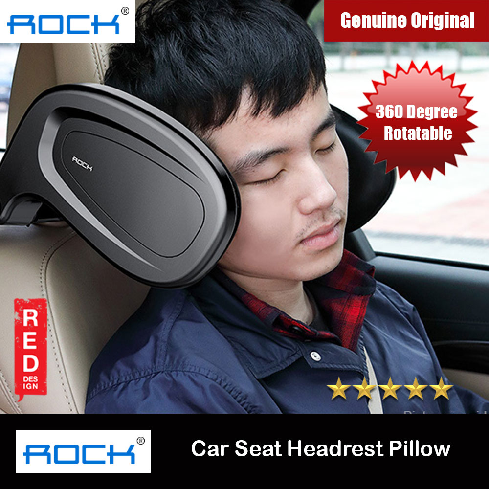 Picture of ROCK 360 Degree Rotatable Car Seat Headrest Soft Pillow (Black) Red Design- Red Design Cases, Red Design Covers, iPad Cases and a wide selection of Red Design Accessories in Malaysia, Sabah, Sarawak and Singapore