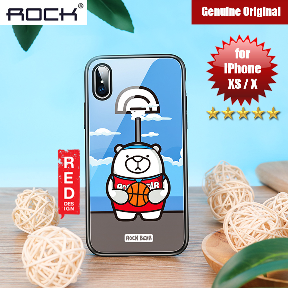 Picture of Rock Tempered Glass Case for Apple iPhone XS iPhone X (Sport Bear) Apple iPhone X- Apple iPhone X Cases, Apple iPhone X Covers, iPad Cases and a wide selection of Apple iPhone X Accessories in Malaysia, Sabah, Sarawak and Singapore