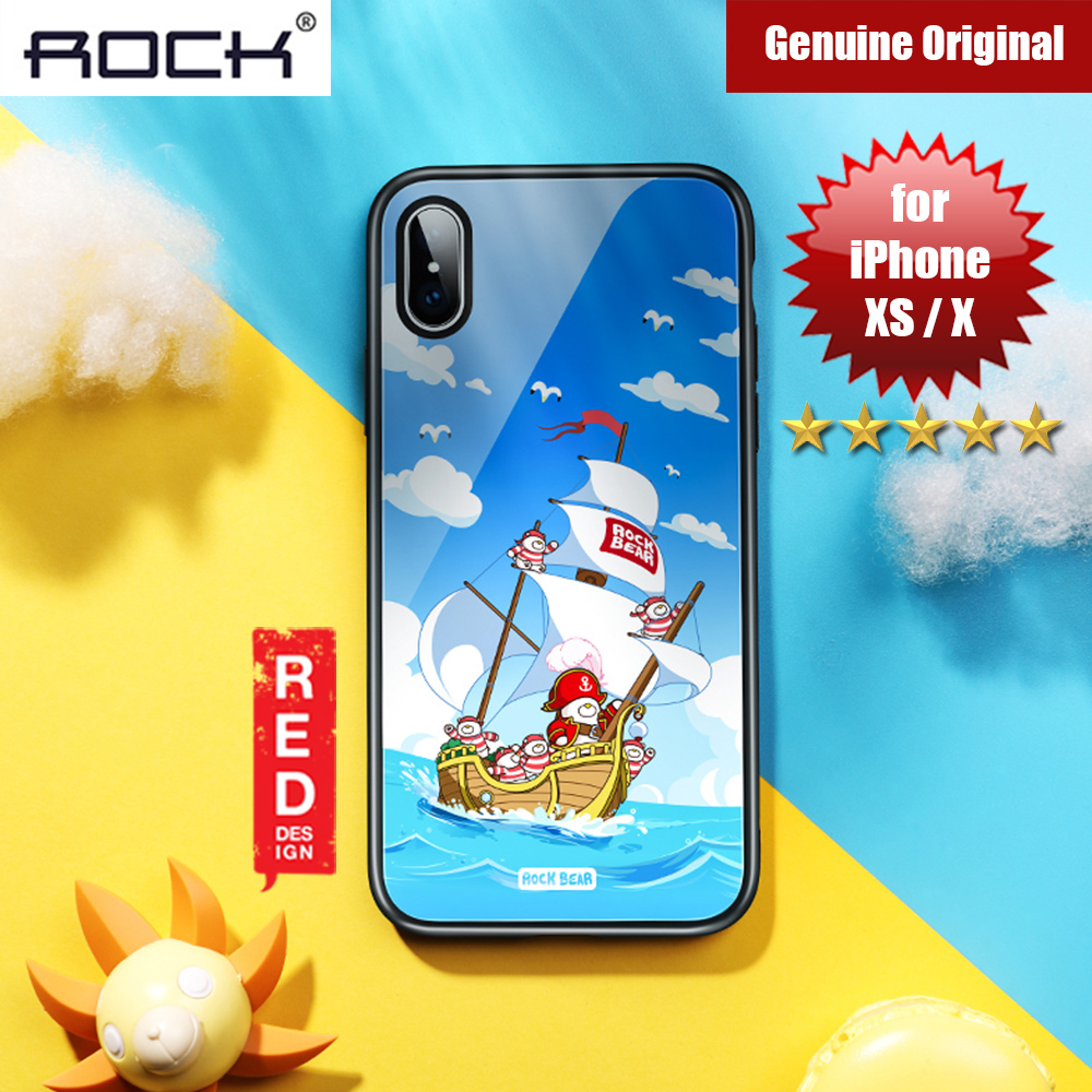 Picture of Rock Tempered Glass Case for Apple iPhone XS iPhone X (Captain Bear) Apple iPhone X- Apple iPhone X Cases, Apple iPhone X Covers, iPad Cases and a wide selection of Apple iPhone X Accessories in Malaysia, Sabah, Sarawak and Singapore