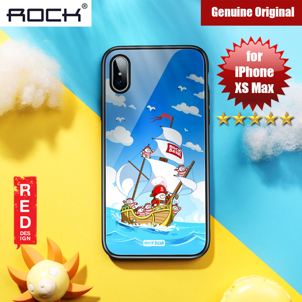Picture of Rock Tempered Glass Case for Apple iPhone XS Max (Captain Bear) Apple iPhone XS Max- Apple iPhone XS Max Cases, Apple iPhone XS Max Covers, iPad Cases and a wide selection of Apple iPhone XS Max Accessories in Malaysia, Sabah, Sarawak and Singapore