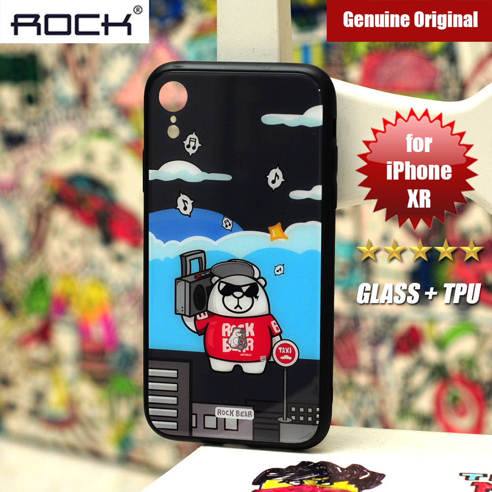 Picture of Rock Tempered Glass Case for Apple iPhone XR (Music Bear) Apple iPhone XR- Apple iPhone XR Cases, Apple iPhone XR Covers, iPad Cases and a wide selection of Apple iPhone XR Accessories in Malaysia, Sabah, Sarawak and Singapore