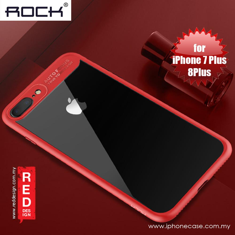 Picture of Rock Clarity Series Protection Case for Apple iPhone 7 Plus iPhone 8 Plus 5.5 (Red) Apple iPhone 8 Plus- Apple iPhone 8 Plus Cases, Apple iPhone 8 Plus Covers, iPad Cases and a wide selection of Apple iPhone 8 Plus Accessories in Malaysia, Sabah, Sarawak and Singapore