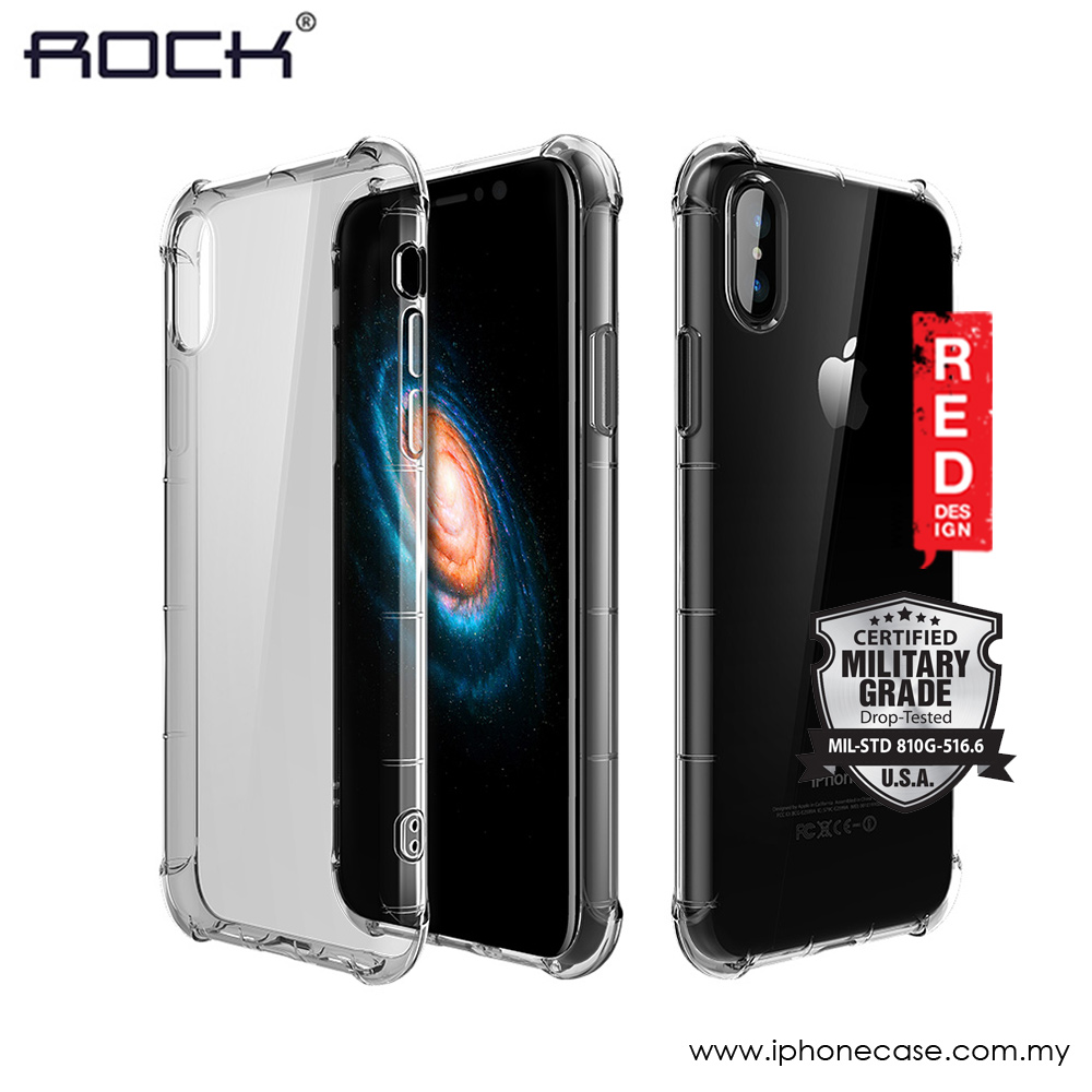 sports shoes 19def 9a10b Rock Fence S Series Soft TPU Shockproof Drop Protection Case for Apple  iPhone X (Tint Black)