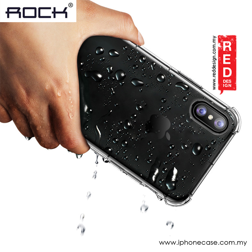 Picture of Apple iPhone X Case | Rock Space Fence S Series Soft TPU Shockproof Drop Protection Case for Apple iPhone X (Clear)