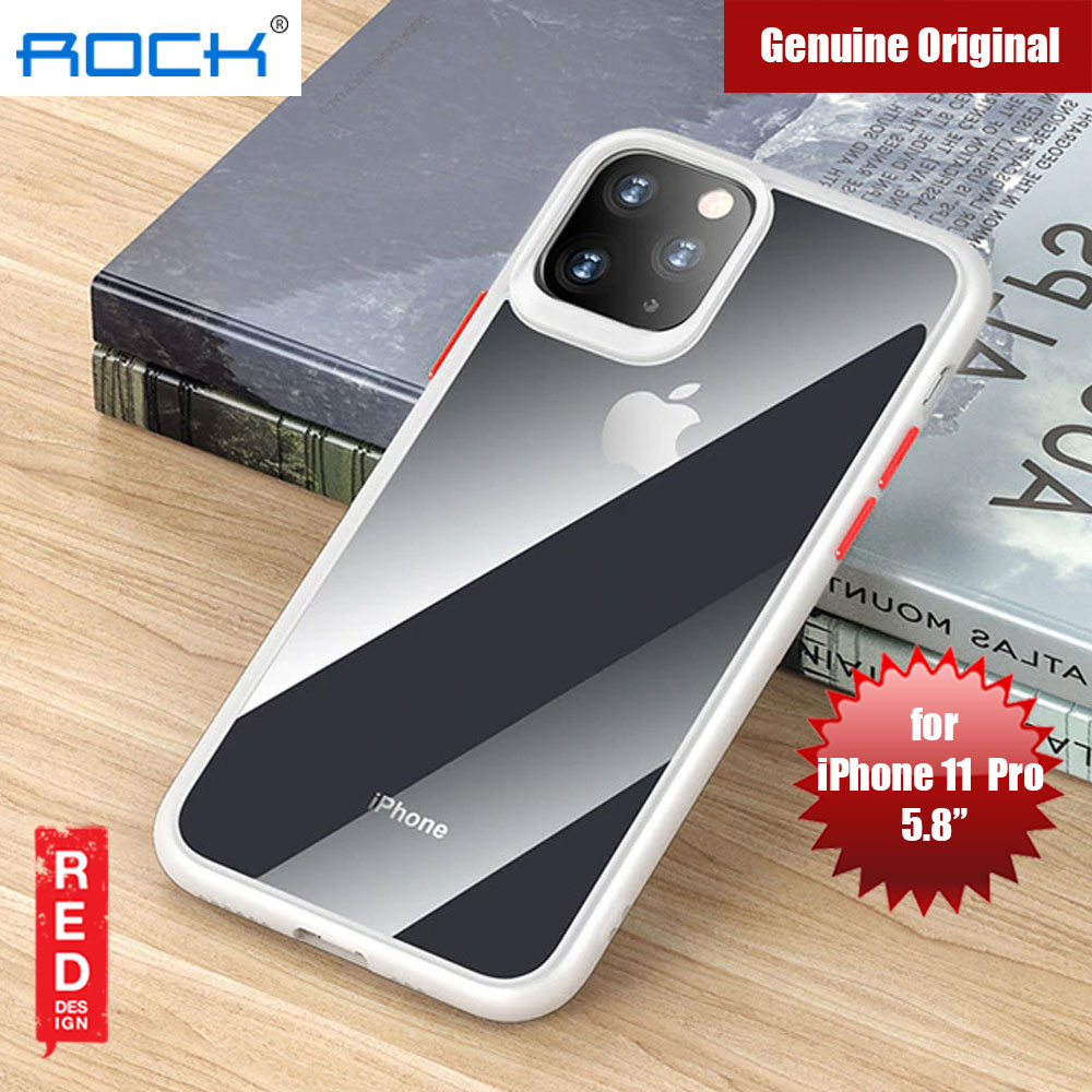 Picture of Rock Guard Pro Series Drop Protection Case for iPhone 11 Pro 5.8 (Clear White) Apple iPhone 11 Pro 5.8- Apple iPhone 11 Pro 5.8 Cases, Apple iPhone 11 Pro 5.8 Covers, iPad Cases and a wide selection of Apple iPhone 11 Pro 5.8 Accessories in Malaysia, Sabah, Sarawak and Singapore