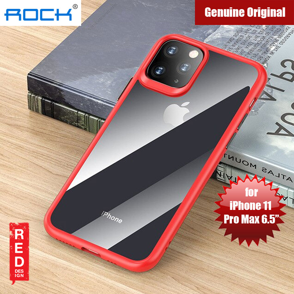 Picture of Rock Guard Pro Series Drop Protection Case for iPhone 11 Pro Max 6.5 (Clear Red) Apple iPhone 11 Pro Max 6.5- Apple iPhone 11 Pro Max 6.5 Cases, Apple iPhone 11 Pro Max 6.5 Covers, iPad Cases and a wide selection of Apple iPhone 11 Pro Max 6.5 Accessories in Malaysia, Sabah, Sarawak and Singapore