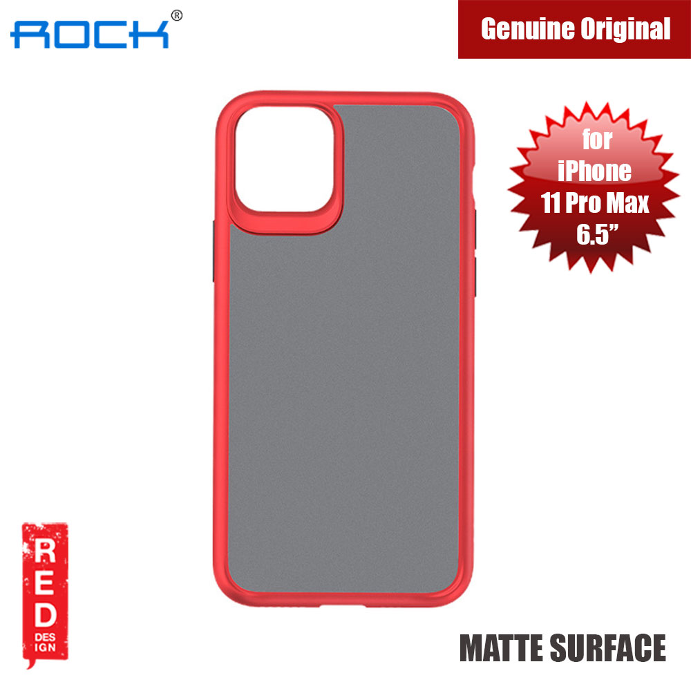 Picture of Rock Guard Pro Series Drop Protection Case for iPhone 11 Pro Max 6.5 (Matte Red) Apple iPhone 11 Pro Max 6.5- Apple iPhone 11 Pro Max 6.5 Cases, Apple iPhone 11 Pro Max 6.5 Covers, iPad Cases and a wide selection of Apple iPhone 11 Pro Max 6.5 Accessories in Malaysia, Sabah, Sarawak and Singapore