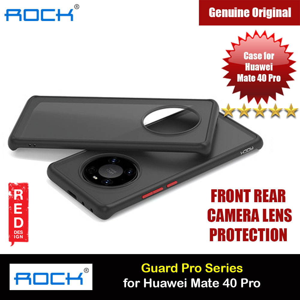 Picture of Rock Guard Pro Series Drop Protection Case Camera Lens Protection Case for Huawei Mate 40 Pro (Matte Black) Huawei Mate 40 Pro- Huawei Mate 40 Pro Cases, Huawei Mate 40 Pro Covers, iPad Cases and a wide selection of Huawei Mate 40 Pro Accessories in Malaysia, Sabah, Sarawak and Singapore