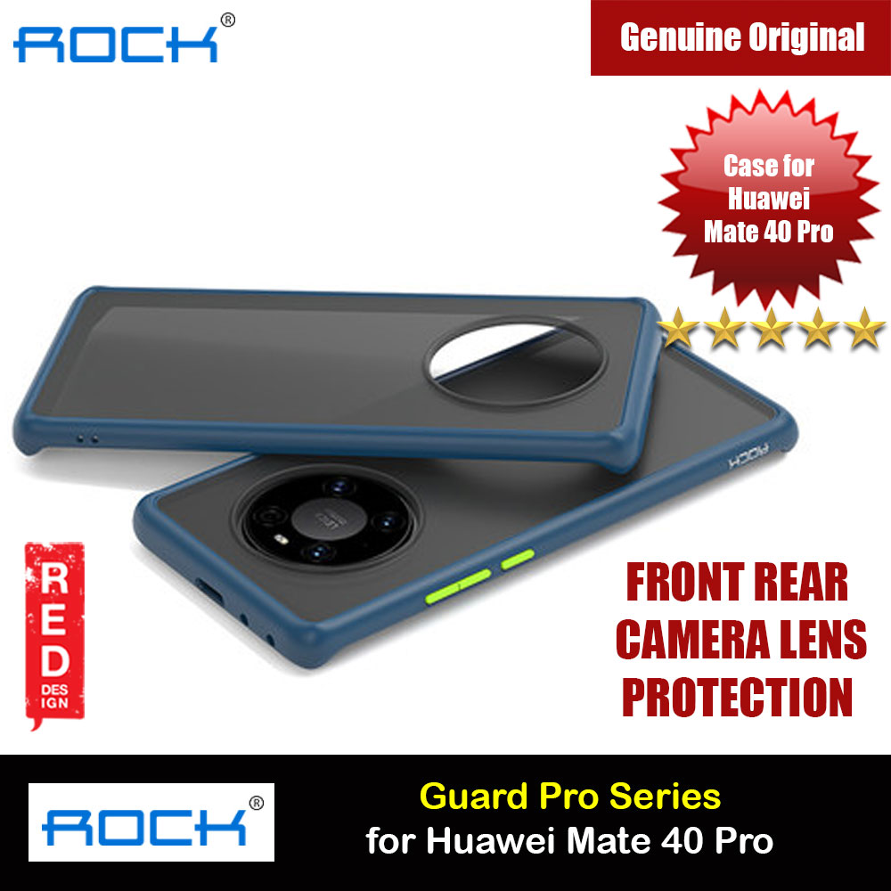 Picture of Rock Guard Pro Series Drop Protection Case Camera Lens Protection Case for Huawei Mate 40 Pro (Matte Blue) Huawei Mate 40 Pro- Huawei Mate 40 Pro Cases, Huawei Mate 40 Pro Covers, iPad Cases and a wide selection of Huawei Mate 40 Pro Accessories in Malaysia, Sabah, Sarawak and Singapore