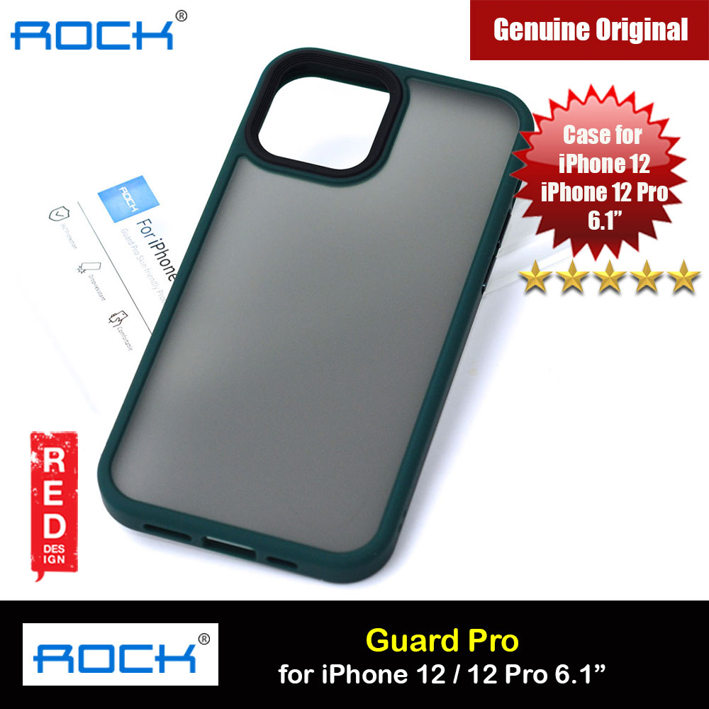 Picture of Rock Guard Pro Anti Finger Print Drop Protection Case for iPhone 12 iPhone 12 Pro 6.1 (Matte Green) Apple iPhone 12 6.1- Apple iPhone 12 6.1 Cases, Apple iPhone 12 6.1 Covers, iPad Cases and a wide selection of Apple iPhone 12 6.1 Accessories in Malaysia, Sabah, Sarawak and Singapore