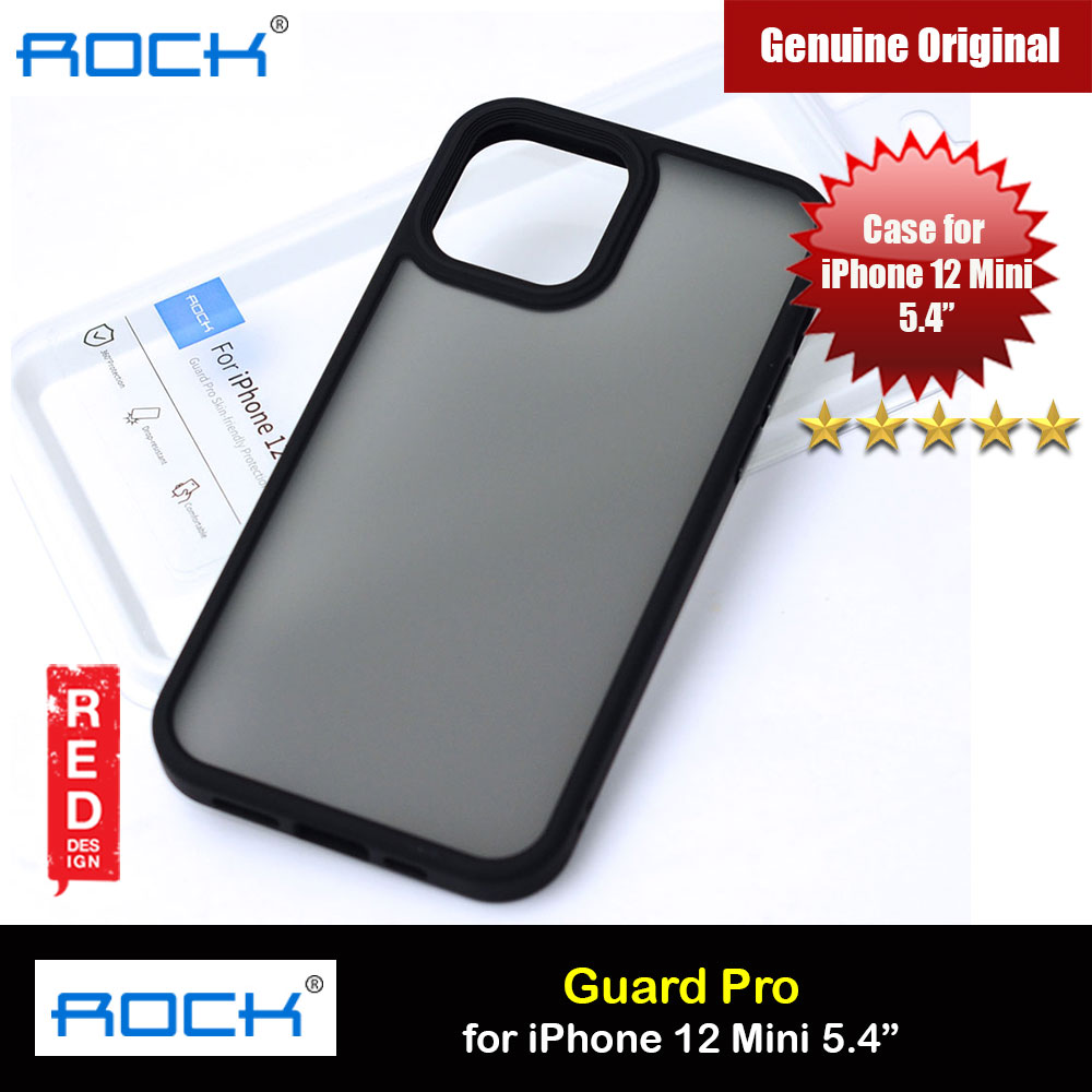 Picture of Rock Guard Pro Anti Finger Print Drop Protection Case for iPhone 12 Mini 5.4 (Matte Black) Apple iPhone 12 mini 5.4- Apple iPhone 12 mini 5.4 Cases, Apple iPhone 12 mini 5.4 Covers, iPad Cases and a wide selection of Apple iPhone 12 mini 5.4 Accessories in Malaysia, Sabah, Sarawak and Singapore