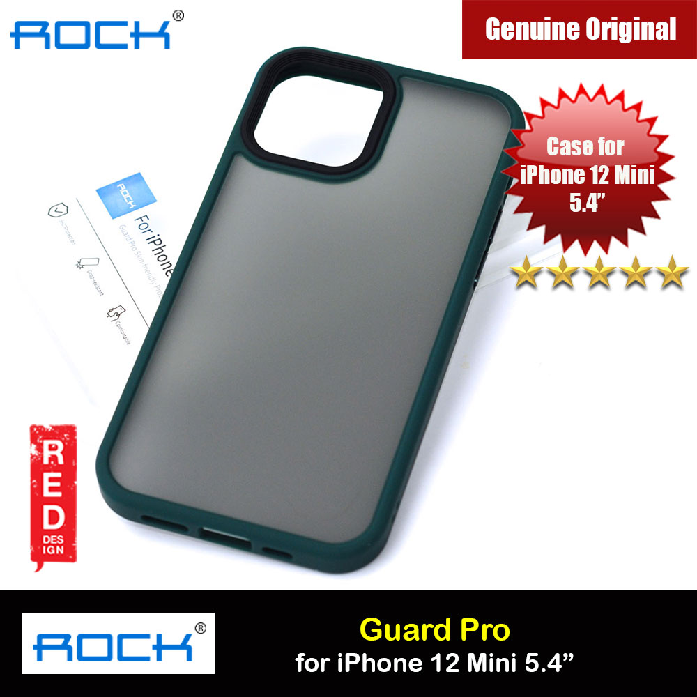 Picture of Rock Guard Pro Anti Finger Print Drop Protection Case for iPhone 12 Mini 5.4 (Matte Green) Apple iPhone 12 mini 5.4- Apple iPhone 12 mini 5.4 Cases, Apple iPhone 12 mini 5.4 Covers, iPad Cases and a wide selection of Apple iPhone 12 mini 5.4 Accessories in Malaysia, Sabah, Sarawak and Singapore