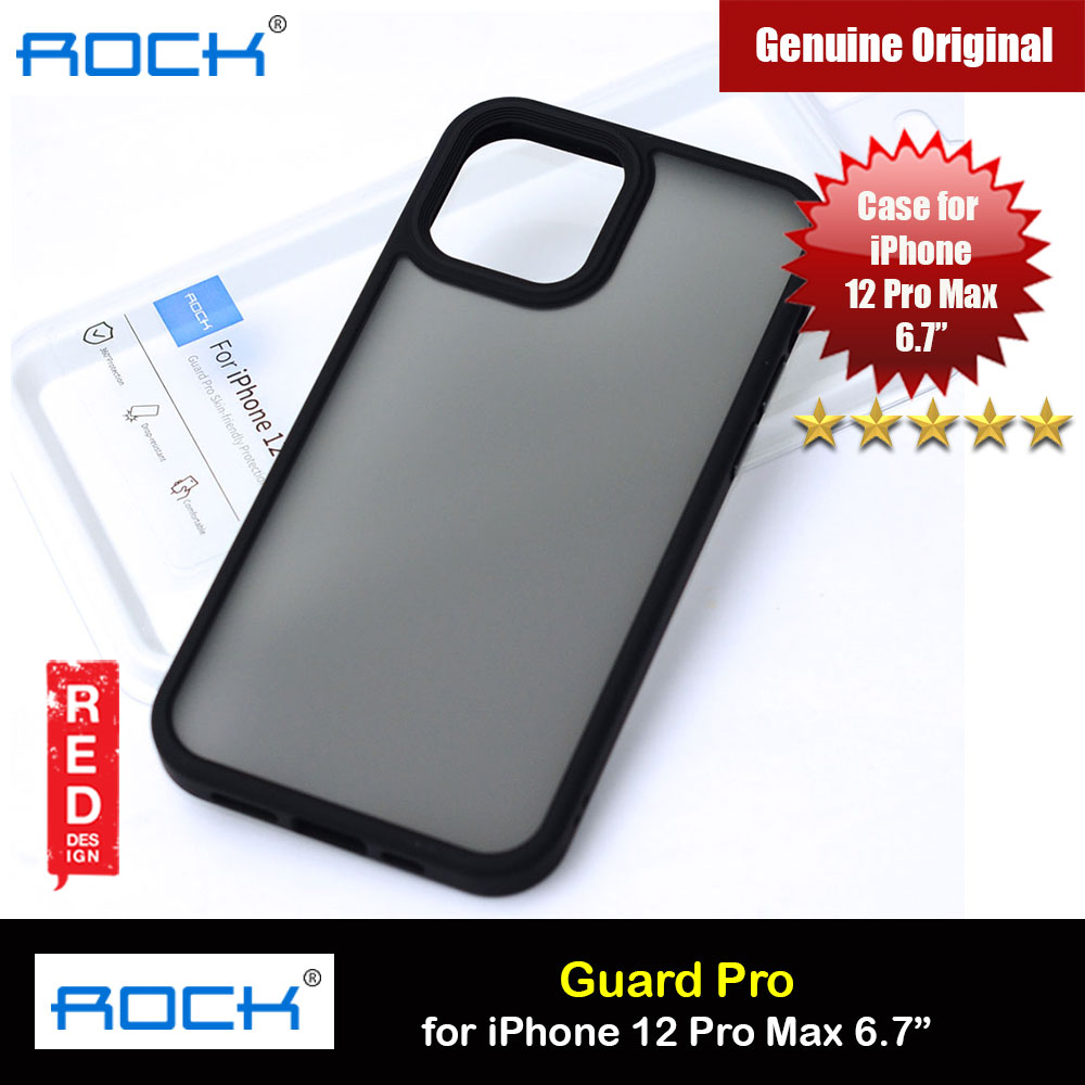 Picture of Rock Guard Pro Anti Finger Print Drop Protection Case for iPhone 12 Pro Max 6.7 (Matte Black) Apple iPhone 12 Pro Max 6.7- Apple iPhone 12 Pro Max 6.7 Cases, Apple iPhone 12 Pro Max 6.7 Covers, iPad Cases and a wide selection of Apple iPhone 12 Pro Max 6.7 Accessories in Malaysia, Sabah, Sarawak and Singapore