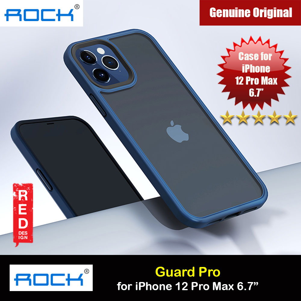 Picture of Rock Guard Pro Anti Finger Print Drop Protection Case for iPhone 12 Pro Max 6.7 (Matte Blue) Apple iPhone 12 Pro Max 6.7- Apple iPhone 12 Pro Max 6.7 Cases, Apple iPhone 12 Pro Max 6.7 Covers, iPad Cases and a wide selection of Apple iPhone 12 Pro Max 6.7 Accessories in Malaysia, Sabah, Sarawak and Singapore
