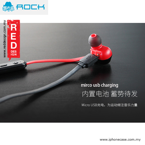 Picture of Rock Mumo Bluetooth In Earphone with Mic - Red