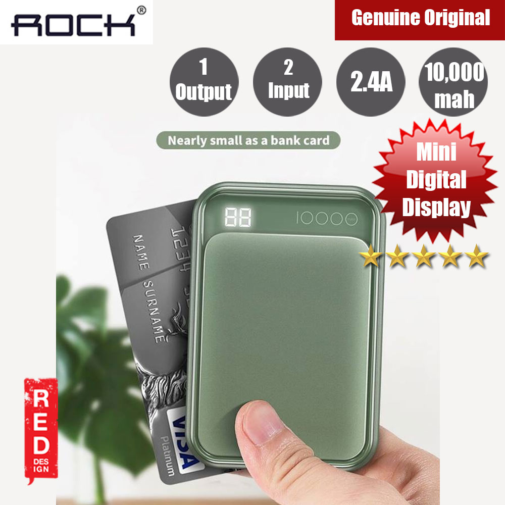 Picture of Rock P63 Mini Power Bank with LED Support 10000mah (Dark Green) Red Design- Red Design Cases, Red Design Covers, iPad Cases and a wide selection of Red Design Accessories in Malaysia, Sabah, Sarawak and Singapore