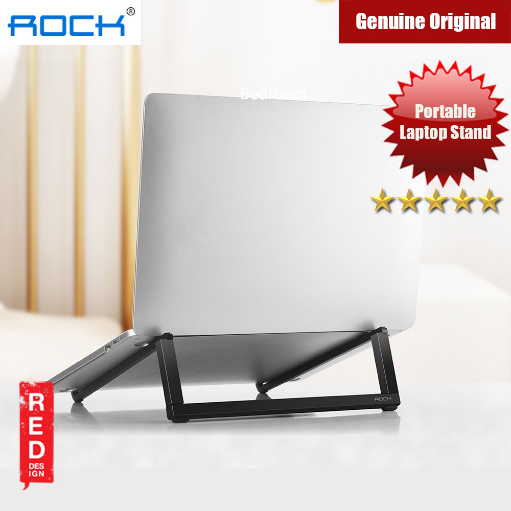 Picture of Rock Foldable Portable Table Laptop Stand 230gram lightweight (Black) Red Design- Red Design Cases, Red Design Covers, iPad Cases and a wide selection of Red Design Accessories in Malaysia, Sabah, Sarawak and Singapore