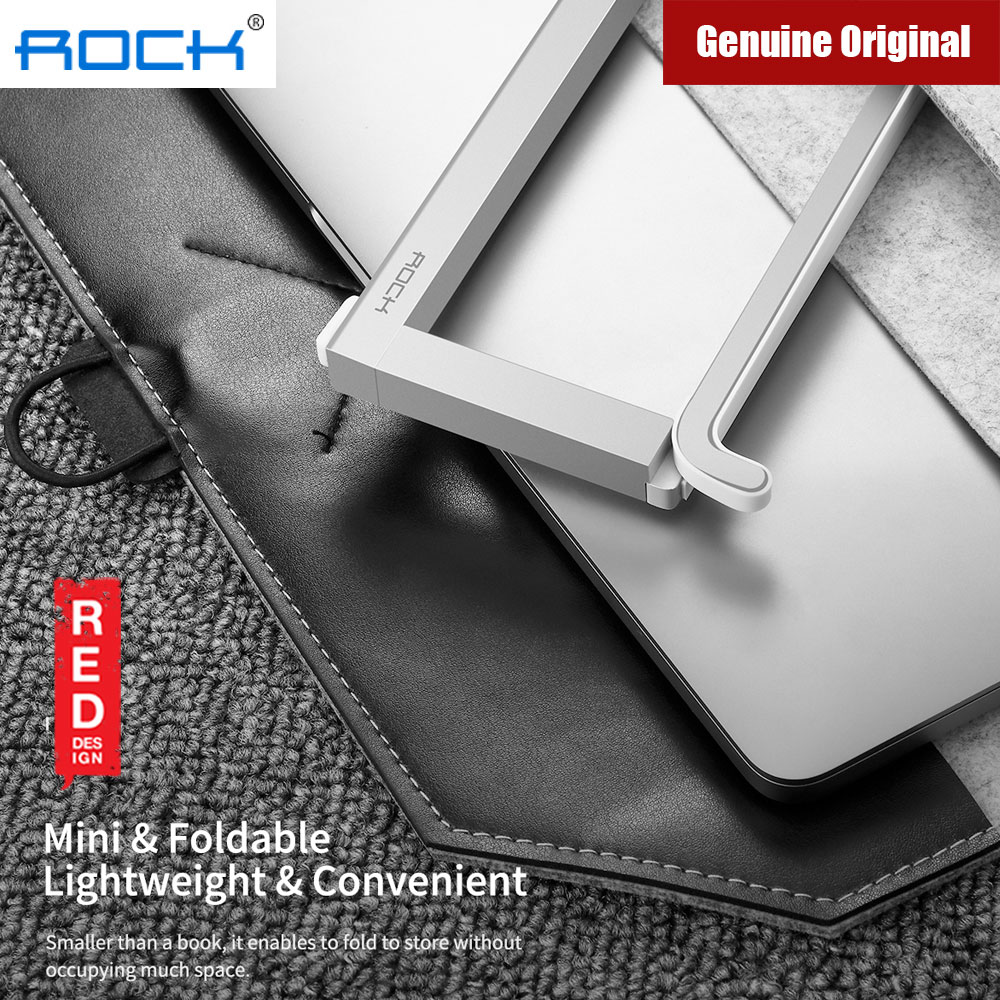 Picture of Rock Foldable Portable Table Laptop Stand 230gram lightweight (Silver)