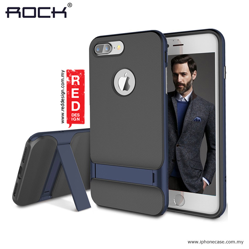 Picture of Apple iPhone 7 Plus 5.5 Case | Rock Royce Kickstand Series Double Layer Cover Case for Apple iPhone 7 Plus 5.5 - Navy Blue