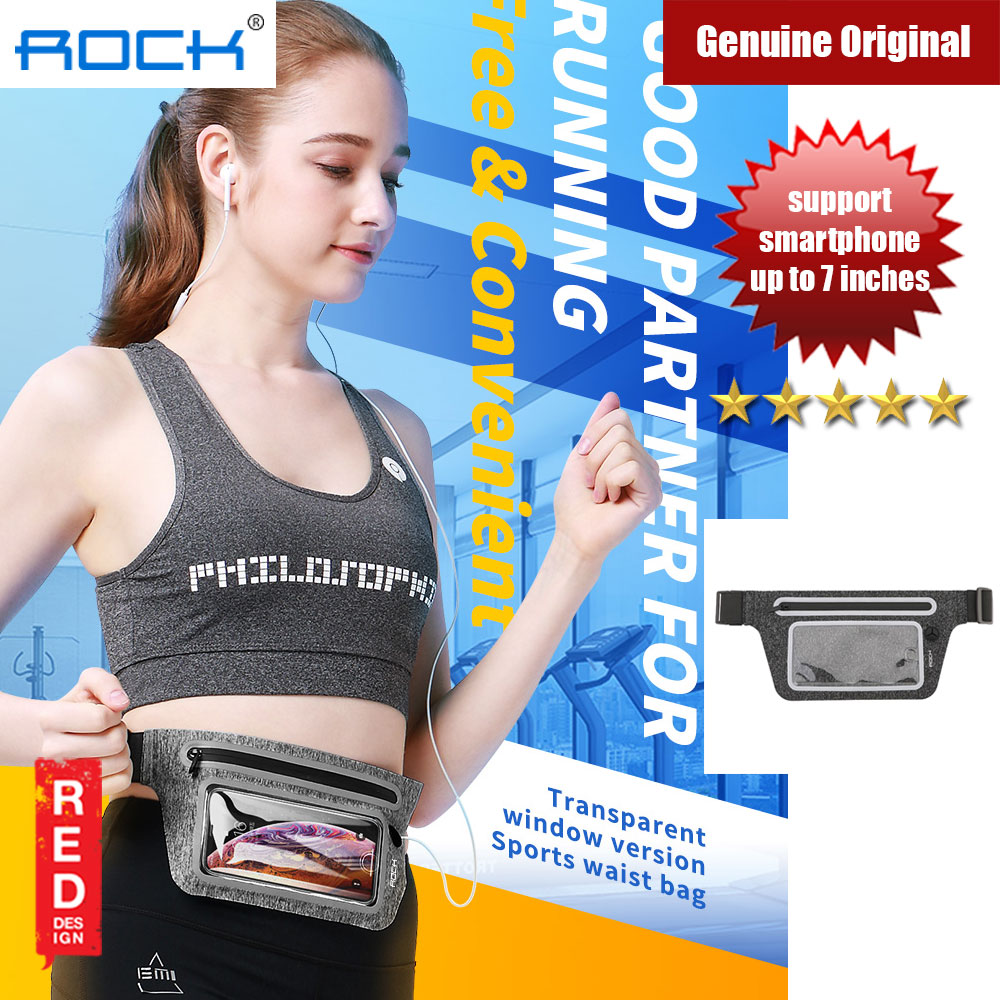 Picture of Rock Slim Adjustable Sport Waist Band with Transparent Window and Reflector for Smartphone up to 7 inches (Black) Red Design- Red Design Cases, Red Design Covers, iPad Cases and a wide selection of Red Design Accessories in Malaysia, Sabah, Sarawak and Singapore