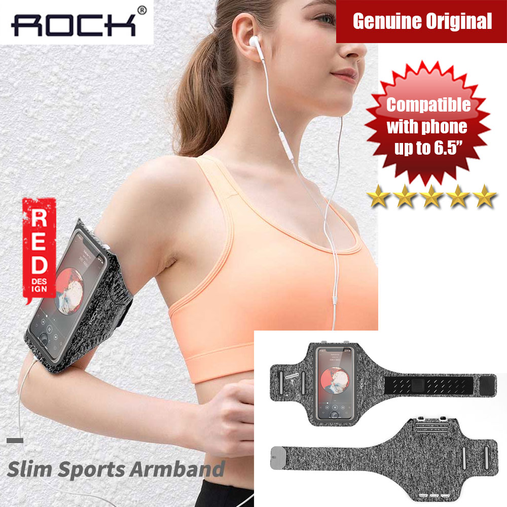 Picture of Rock Slim Sport Armband for Smartphone up to 6.5 inches (Grey) Red Design- Red Design Cases, Red Design Covers, iPad Cases and a wide selection of Red Design Accessories in Malaysia, Sabah, Sarawak and Singapore