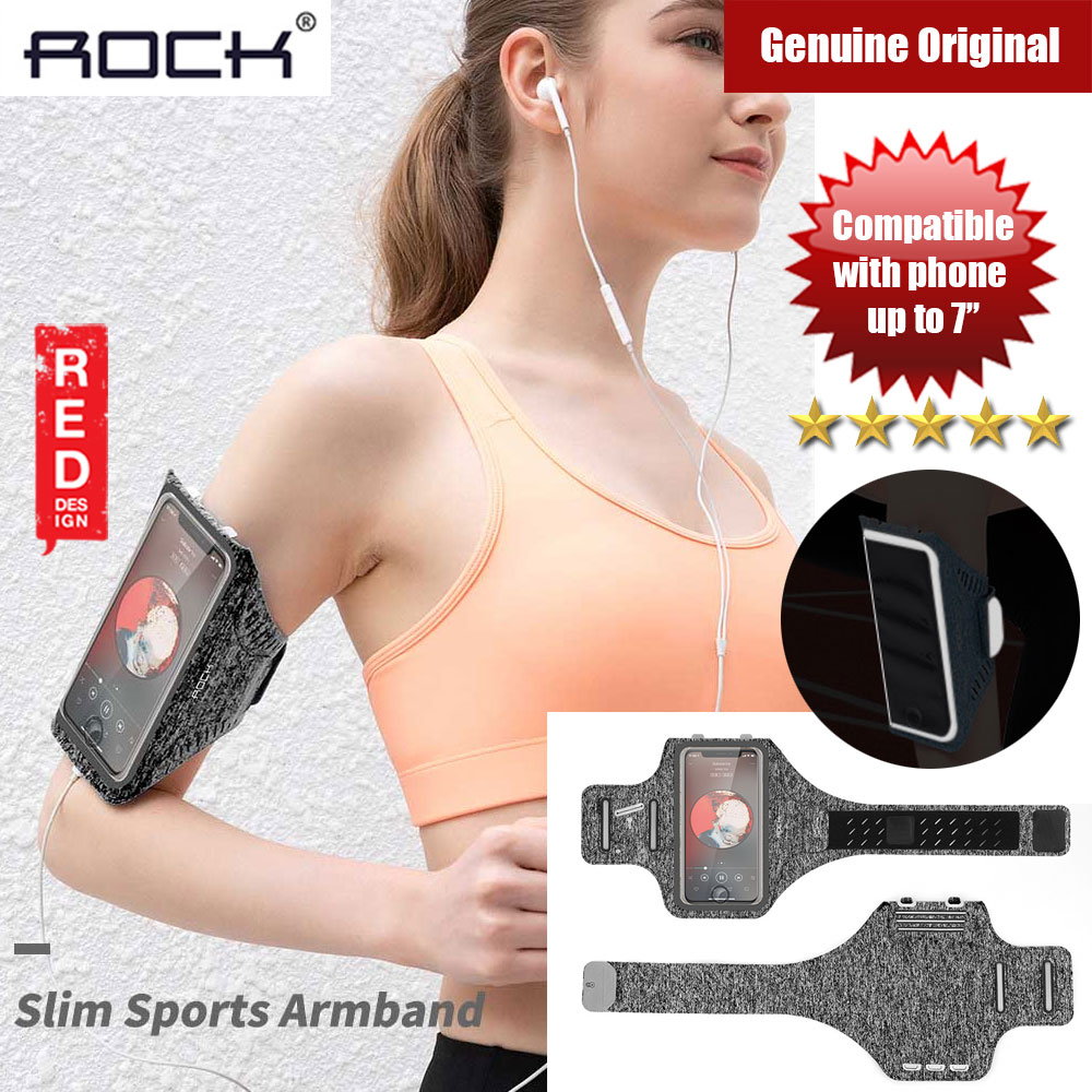 Picture of Rock Slim Sport Armband for Smartphone up to 7 inches (Grey) Red Design- Red Design Cases, Red Design Covers, iPad Cases and a wide selection of Red Design Accessories in Malaysia, Sabah, Sarawak and Singapore