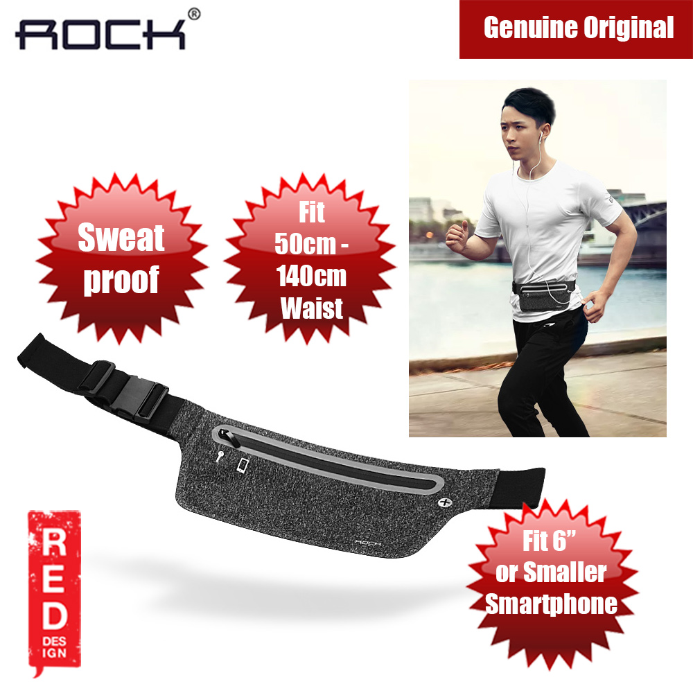 Picture of Rock Sports Waist Bag with Reflector Design for up to 6 inches Smartphone (Black) Red Design- Red Design Cases, Red Design Covers, iPad Cases and a wide selection of Red Design Accessories in Malaysia, Sabah, Sarawak and Singapore