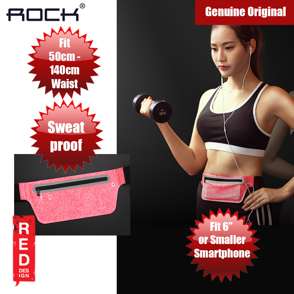 Picture of Rock Sports Waist Bag with Reflector Design  for up to 6 inches Smartphone (Pink) Red Design- Red Design Cases, Red Design Covers, iPad Cases and a wide selection of Red Design Accessories in Malaysia, Sabah, Sarawak and Singapore