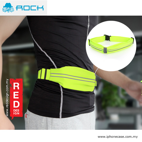 Picture of Rock Sports Waist Bag with Phosphor Bar for up to 6 inches Smartphone - Neon Green Red Design- Red Design Cases, Red Design Covers, iPad Cases and a wide selection of Red Design Accessories in Malaysia, Sabah, Sarawak and Singapore
